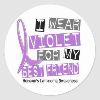 Violet For My Best Friend 37 Hodgkin's Lymphoma Sticker