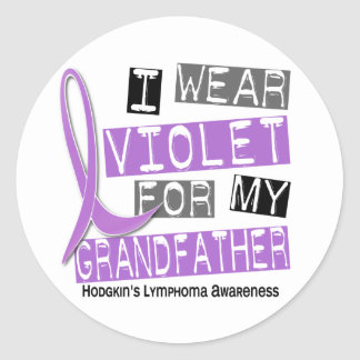 Violet For My Grandfather 37 Hodgkin's Lymphoma Stickers