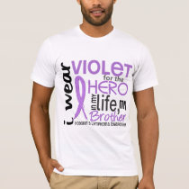 Violet For My Hero 2 Brother Hodgkin's Lymphoma T-Shirt