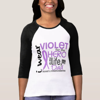 Violet For My Hero 2 Dad Hodgkin's Lymphoma T-Shirt