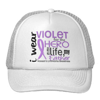 Violet For My Hero 2 Father Hodgkin's Lymphoma Trucker Hat