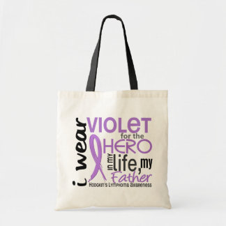 Violet For My Hero 2 Father Hodgkin's Lymphoma Tote Bag