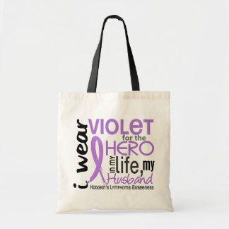 Violet For My Hero 2 Husband Hodgkin's Lymphoma Tote Bag