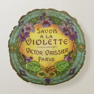 Violet French Perfume Round Pillow
