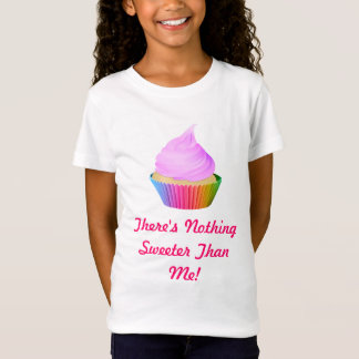 Violet Frosting Vanilla Cupcake Rainbow Baking Cup T-Shirt