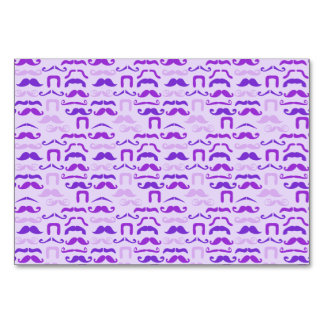 Violet Funny Mustache Card