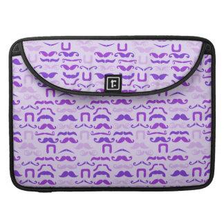 Violet Funny Mustache MacBook Pro Sleeve