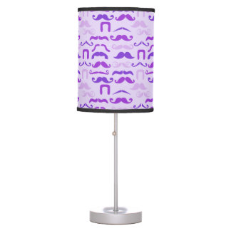 Violet Funny Mustache Table Lamp