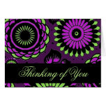 """""""Violet Garden"""" Thinking of You Blank Notecards Greeting Card"""