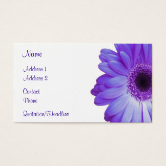 Violet Gerbera Business Card