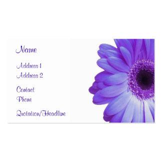 Violet Gerbera Business Card Template