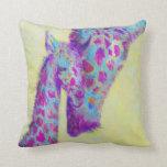 violet giraffes personalizable pillow