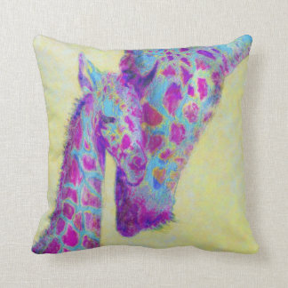 violet giraffes personalizable pillow