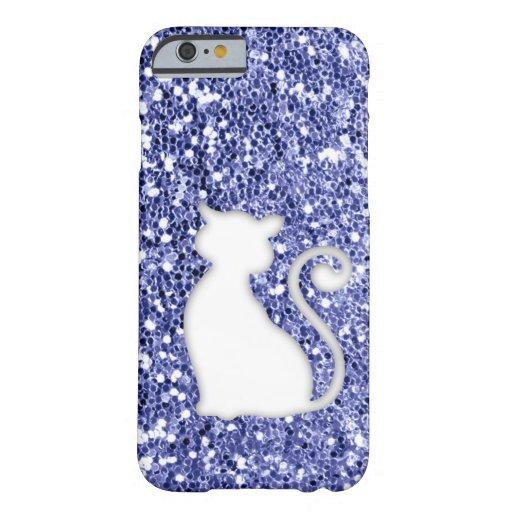 Violet Glitter Look Cat iPhone 6 Case