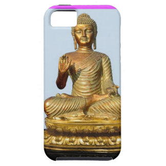 Violet & Gold Buddha Statue by SHARLES iPhone 5 Cover