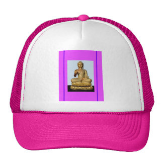 Violet Gold Buddha Statue by SHARLES Mesh Hat