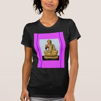 Violet & Gold Buddha Statue by SHARLES Tee Shirt