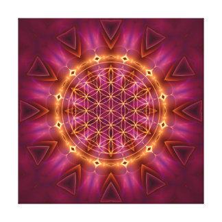 violet gold mandala canvas print