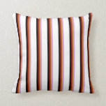 [ Thumbnail: Violet, Goldenrod, Red, Black, and White Colored Throw Pillow ]