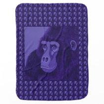 Violet Gorilla Baby Blanket