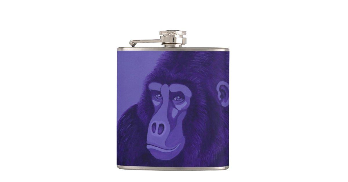 Violet Gorilla Flask