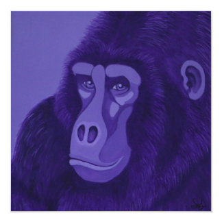 Violet Gorilla Invitations