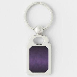 Violet Gothic Ombre Background Art Keychain