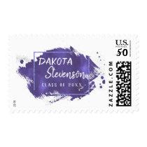 Violet Graduation   Custom Purple Class of 2018 Postage