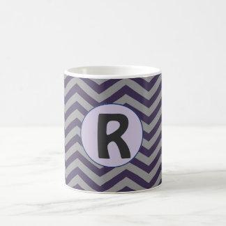 Violet Gray Letter Mug