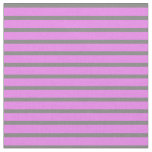 [ Thumbnail: Violet & Gray Lined/Striped Pattern Fabric ]