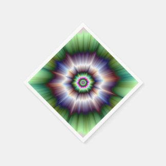 Violet Green and Blue Super Nova Napkin
