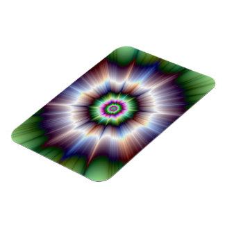 Violet Green and Blue Super Nova Photo Magnet