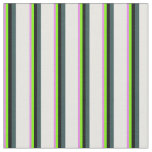 [ Thumbnail: Violet, Green, Black, Dark Slate Gray, and White Fabric ]