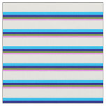 [ Thumbnail: Violet, Green, Blue, Deep Sky Blue & White Colored Fabric ]