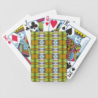 Violet Green Mustard Chains Pattern Card Deck