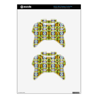 Violet Green Mustard Chains Pattern Xbox 360 Controller Decal