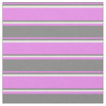 [ Thumbnail: Violet, Grey, and White Colored Stripes Fabric ]