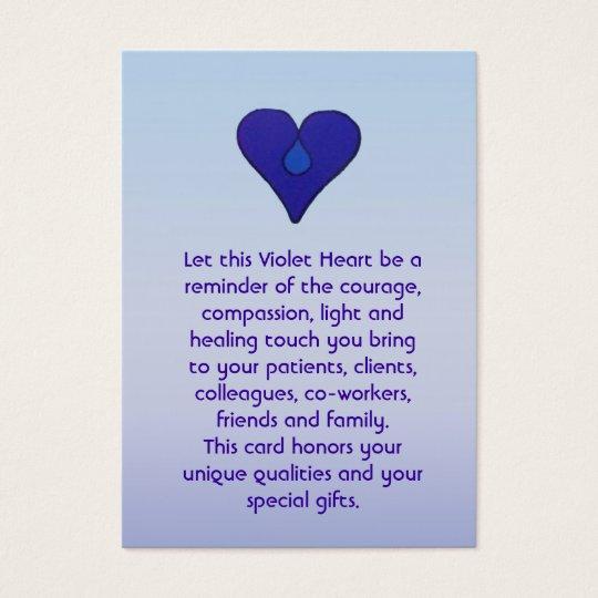 Violet Heart - Caregivers Card