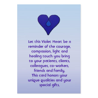 Violet Heart - Caregivers Card Large Business Cards (Pack Of 100)