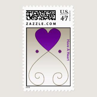 Violet Heart Postage Stamp