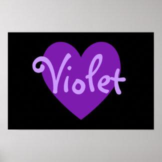 Violet Heart Print