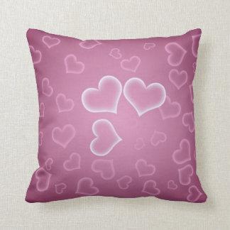 Violet Hearts Pillow