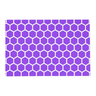 Violet Hexagon 2 Placemat