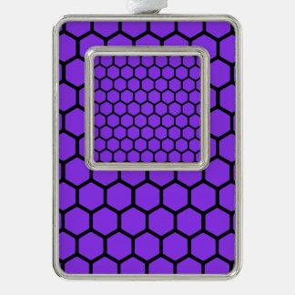 Violet Hexagon 4 Ornament
