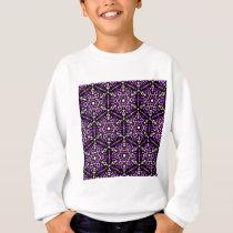Violet Hexagon Pattern Sweatshirt