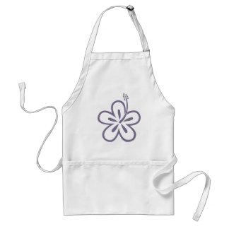 violet hibiscus aloha flower adult apron