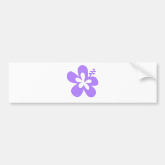 violet hibiscus aloha flower bumper sticker