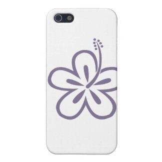 violet hibiscus aloha flower iPhone SE/5/5s case