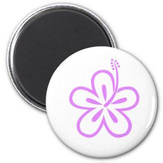 violet hibiscus aloha flower magnet