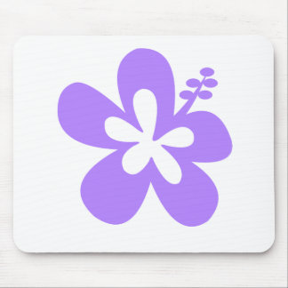 violet hibiscus aloha flower mouse pad